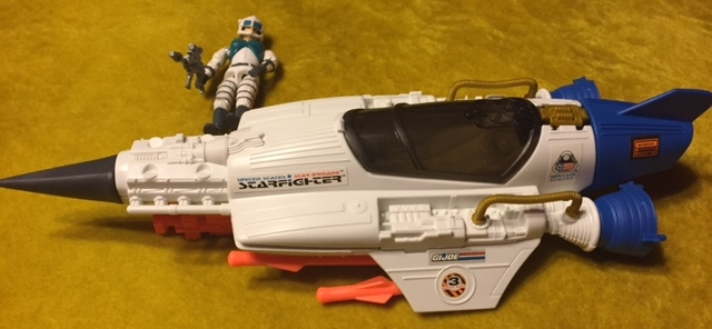 The finished G.I. Joe Star Brigade StarFighter ASSEMBLED and stickered.