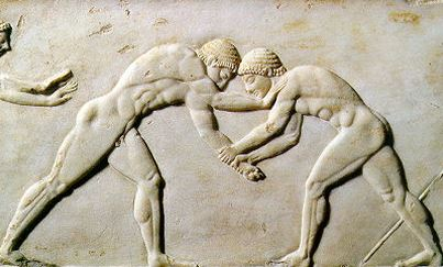 Olympic wrestling 776 BC.JPG