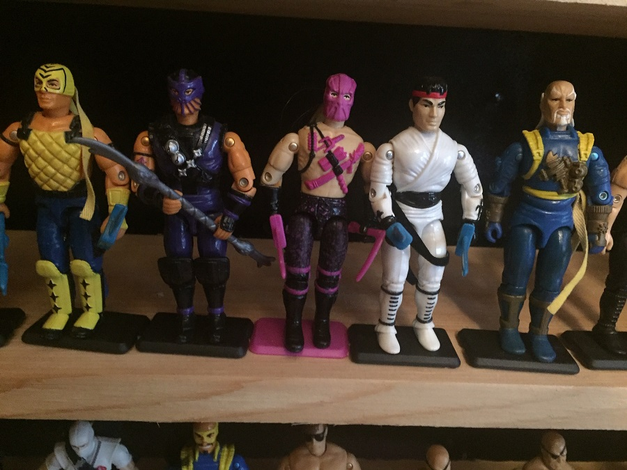G.I. Joe T'Jbang (1992), Dice (1992), Banzai (1993), Ryu (Street fighter series) (1993), shang Tsung (Mortal kombat) (1994) from the When It was cool collection