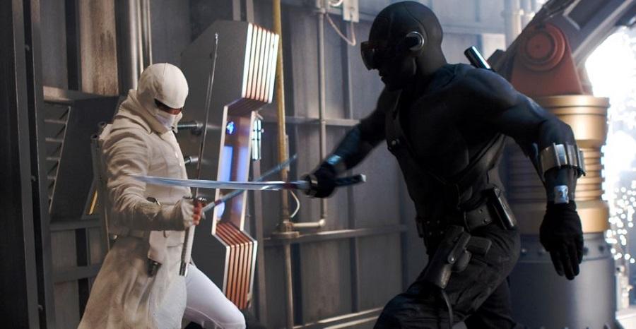 storm shadow verses snake eyes from the G.I. Joe: Rise of Cobra Movie in 2009. The movie marked the first time G.I. Joe had been featured in a live action movie and it was met with mixed success at best