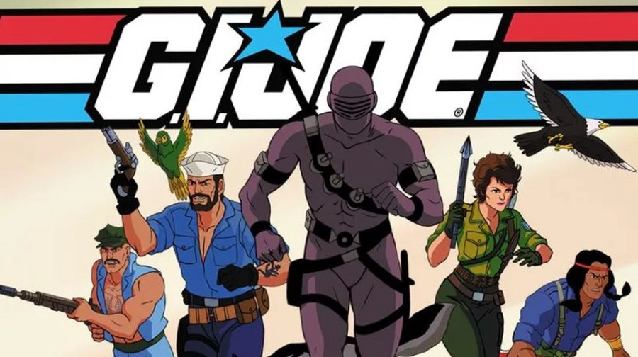 G.I. Joe sunbow cartoon series (1985) is fondly remembered by fans. From left to right: Gung Ho, Shipwreck, Snake eyes, Lady Jaye, Spirit.