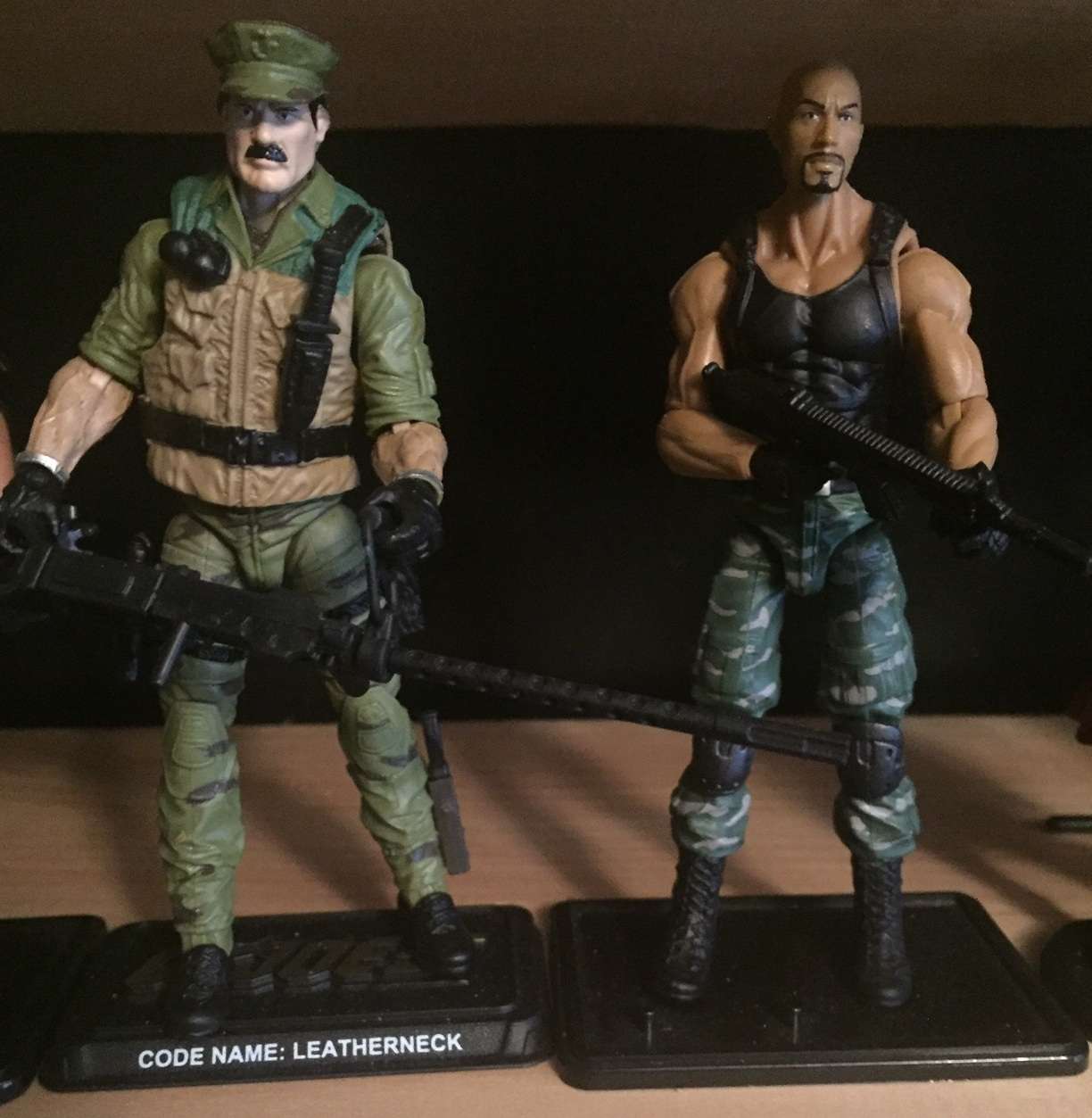 "G.I. Joe Leatherneck (2014) and Roadblock (as played by Dwayne ""The rock"" Johnson) (2012) from the When It Was Cool collection"