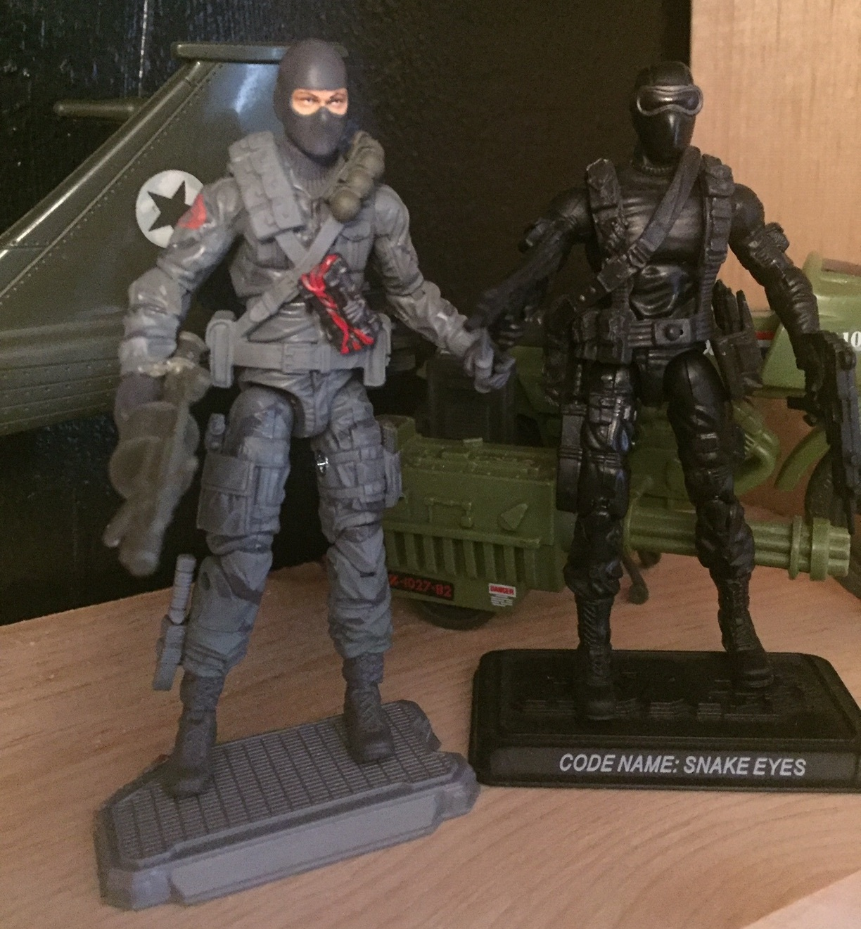 G.I. Joe Firefly (2015) and Snake eyes (2007) from the when it was cool collection