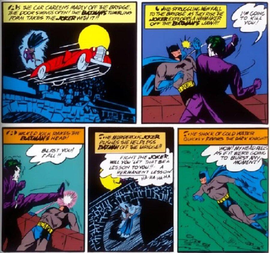 02 The Joker beats Batman Batman 1 1940.JPG