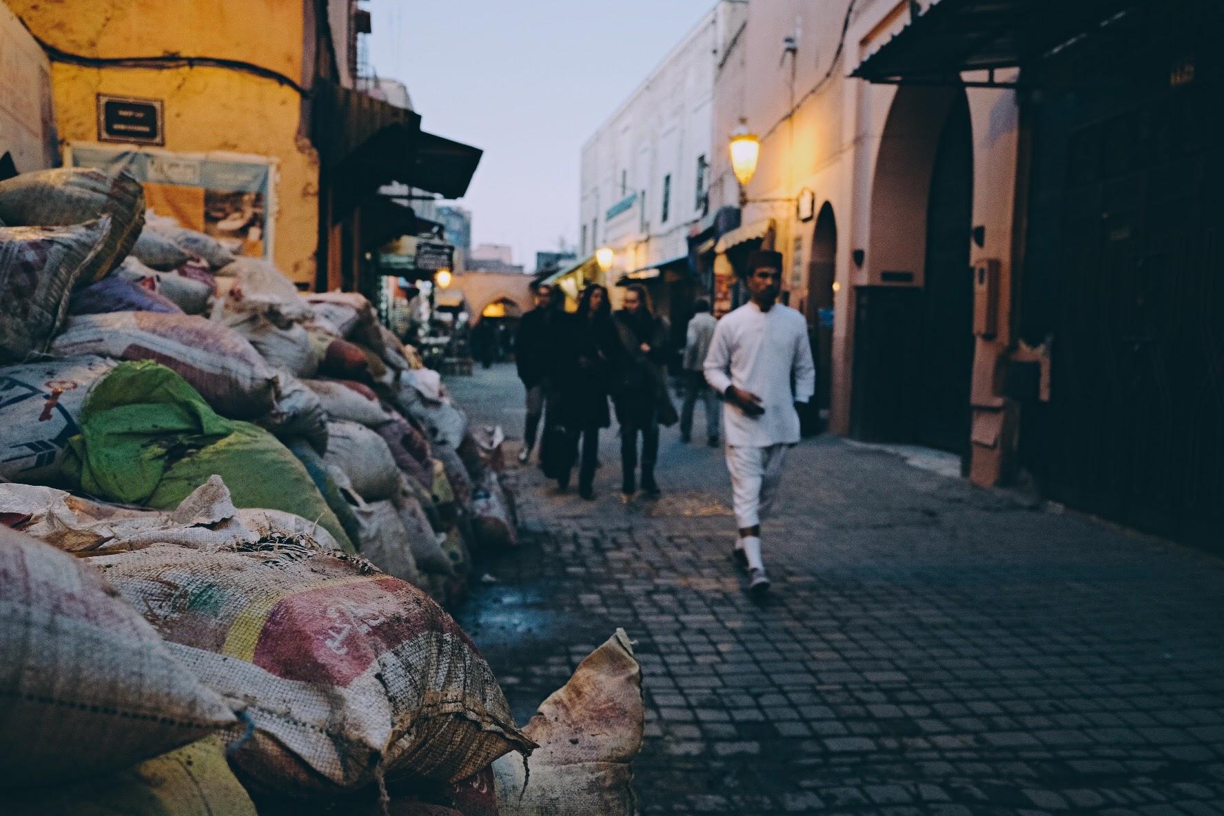 cous cous barricade, marrakech