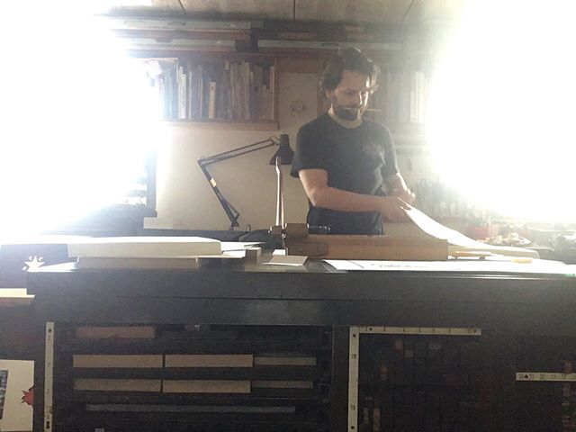 Sunshine pouring in #letterpress