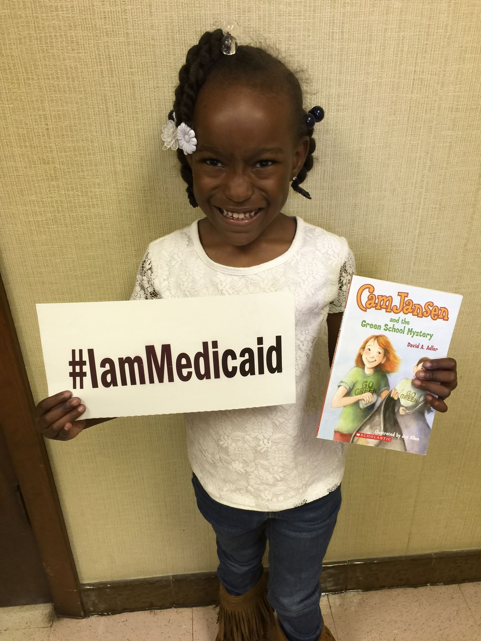 I was born with tetralogy of Fallot. I am in kindergarten doing well. Thanks Medicaid and Children's Hospital. ‪#‎IamMedicaid