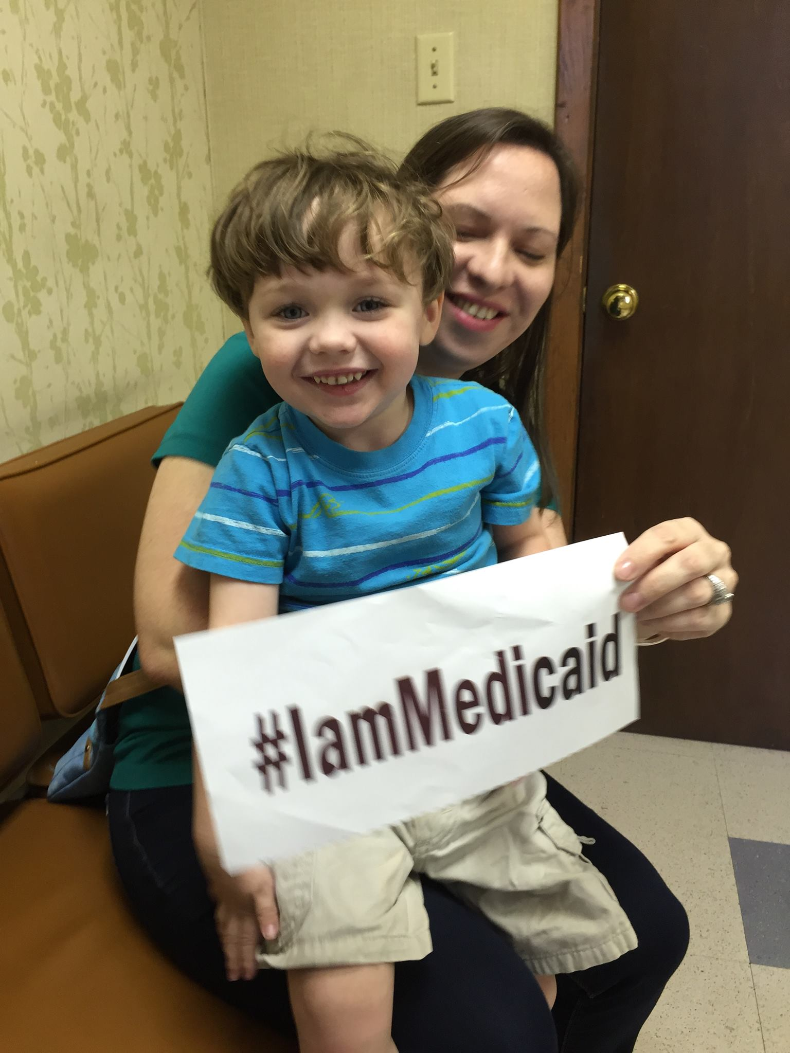 "I am 3 and I can say ""ball"" and ""no."" I just got Medicaid insurance because I have autism and need lots of help. Thanks Medicaid! ‪#‎IamMedicaid"