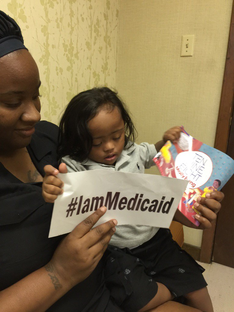 I have Hirschsprungs Disease and Down Syndrome. My Mom is home with me. Dad works. Medicaid is my insurance. #IamMedicaid