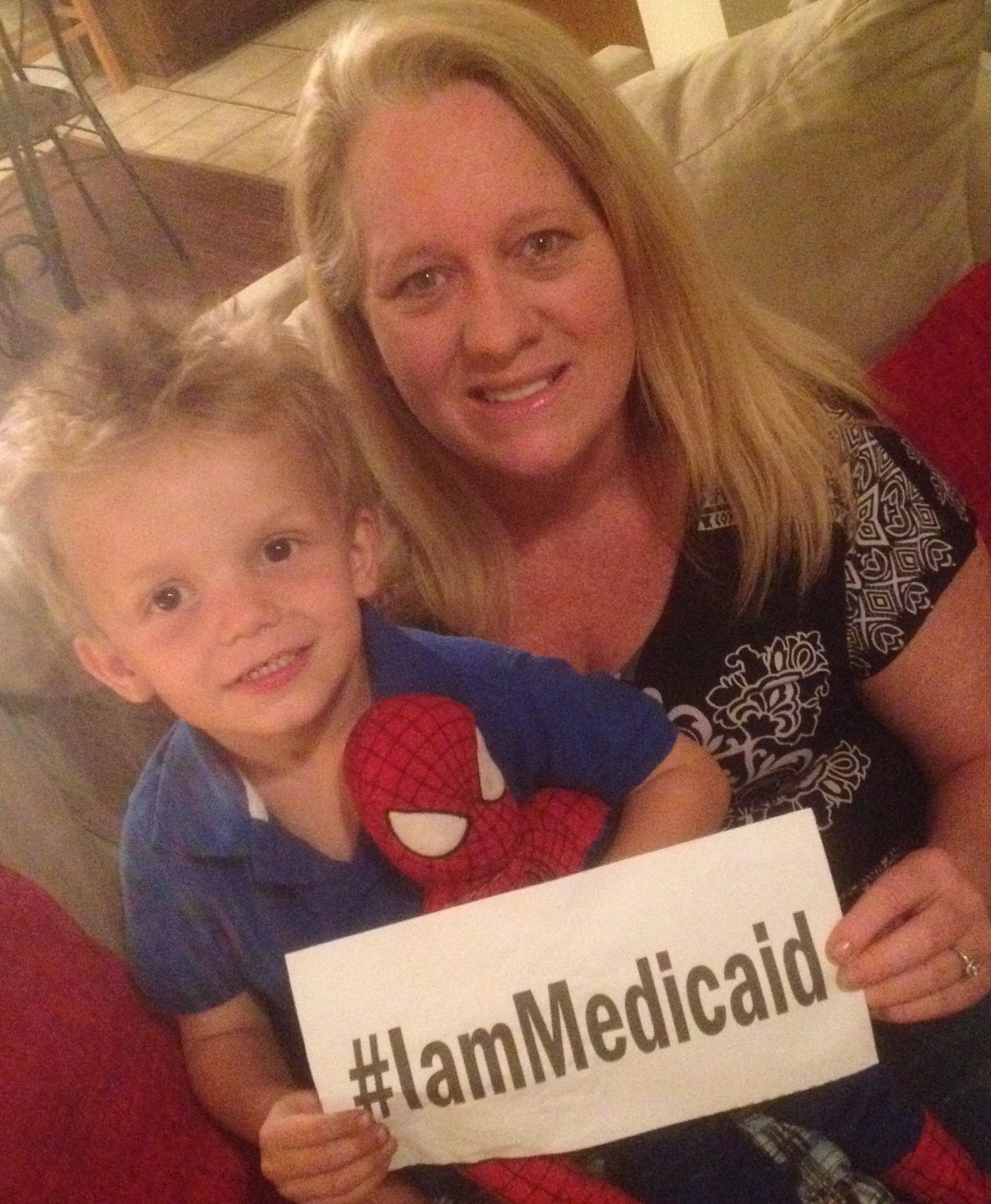I have legal custody of an amazing 3 year old boy; however, as a legal guardian my Blue Cross/Blue Shield will not cover him. Medicaid is our only option. I don't know what I would do without it! #IamMedicaid