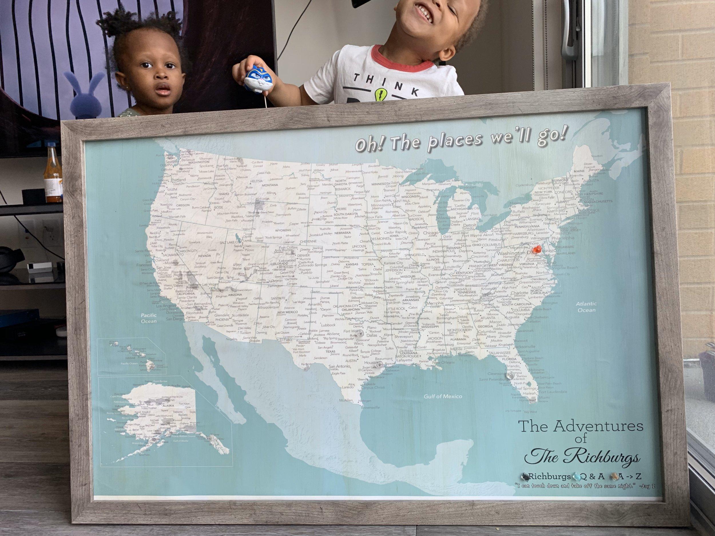 Cute kids ft. Travel Map