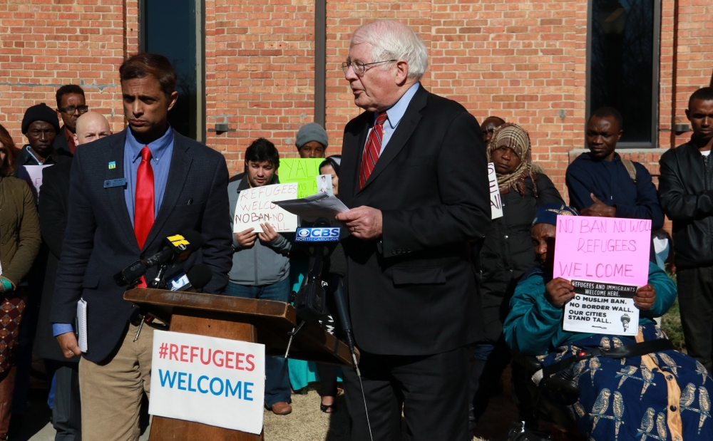 Rep. David Price meets with refugees, blasts 'amateurs' in White House in January 2017