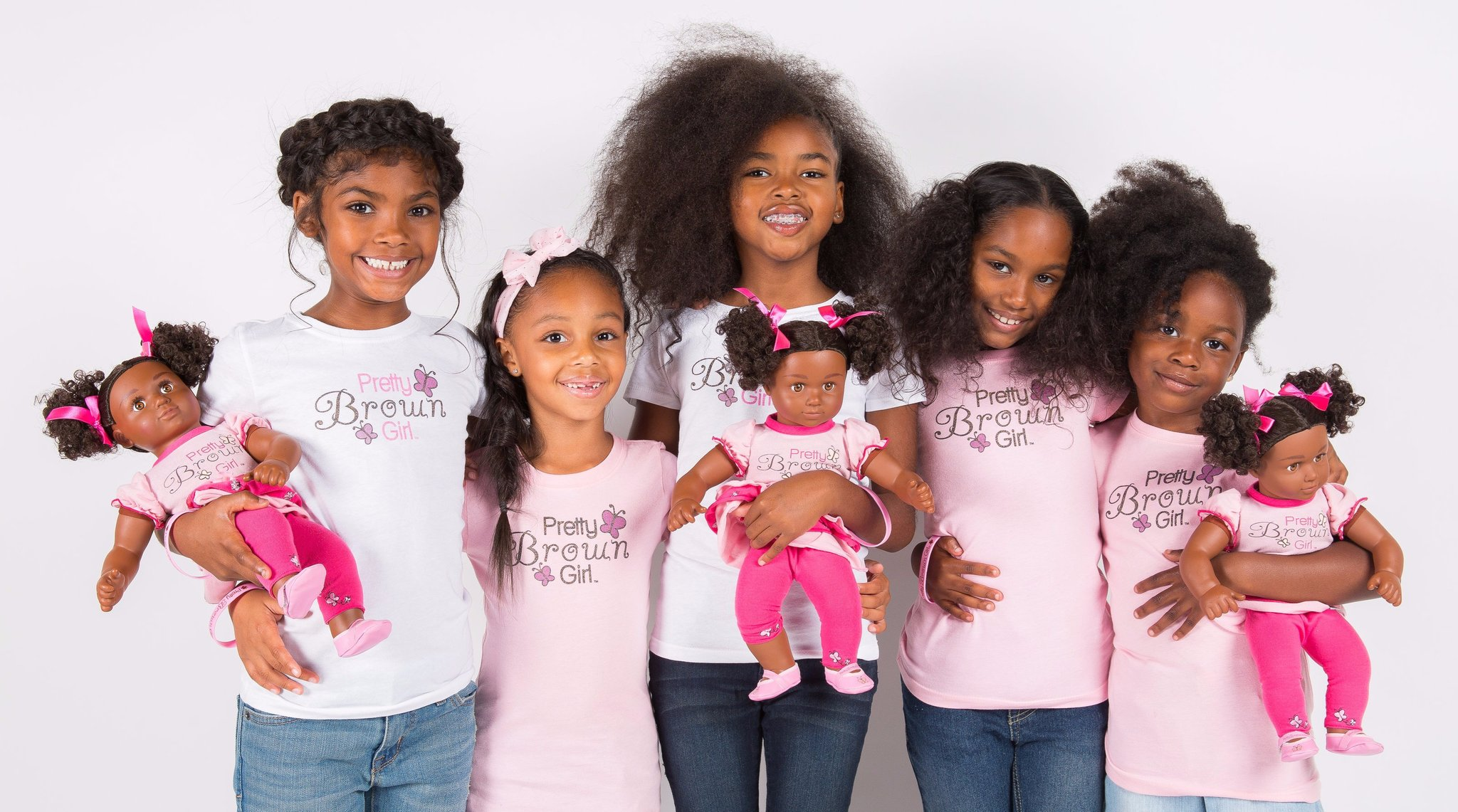 Did I hear you say PRETTY BROWN GIRLS ? YESSS! The babies can finally play with dolls that look just like them, Braid their beautiful kinky hair. More importantly, I love the brand's philosophy. I don't want to give it all away. Photo credit (Pretty Brown Girls) Please go check their page out  here.