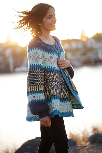 Allisoleil's Ramblin woman test knit