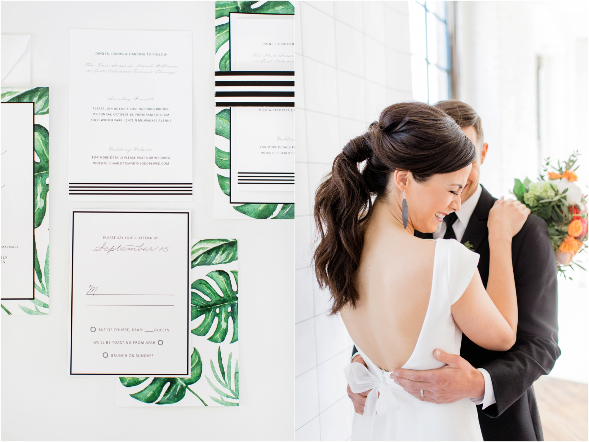 Grand Rapids, MI Modern Wedding Invitation Suites