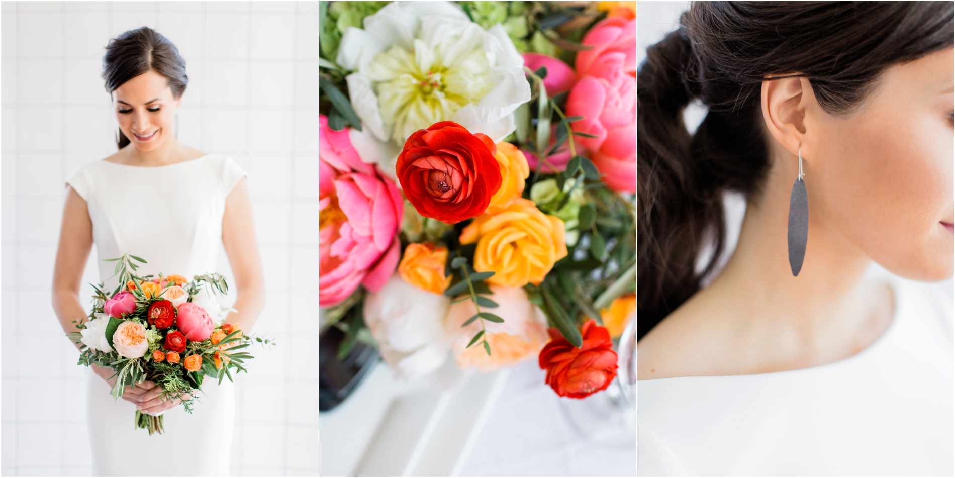 Grand Rapids, MI Beautiful Bridal Portraits with Bouquet