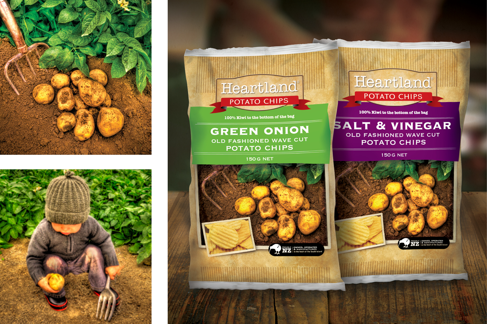 heartland packaging and brand identity