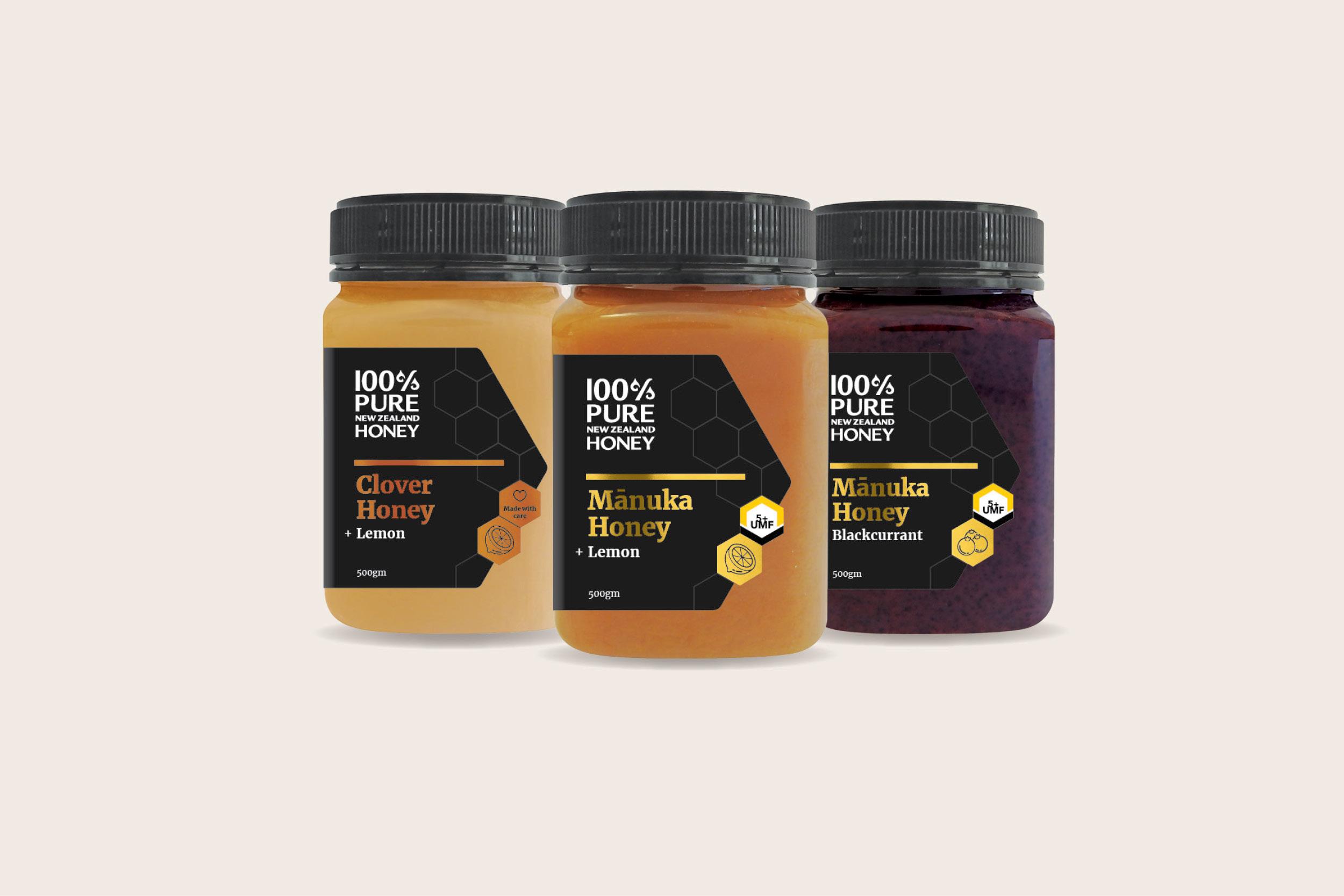 Honey jar packaging