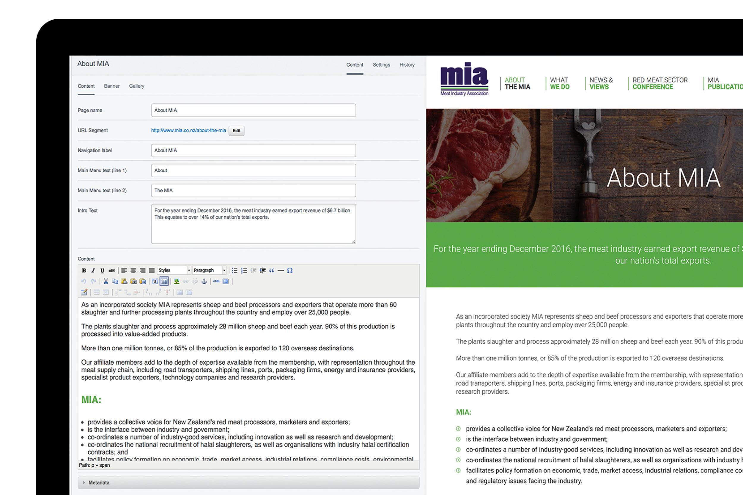 Meat Industry AssociationBackend