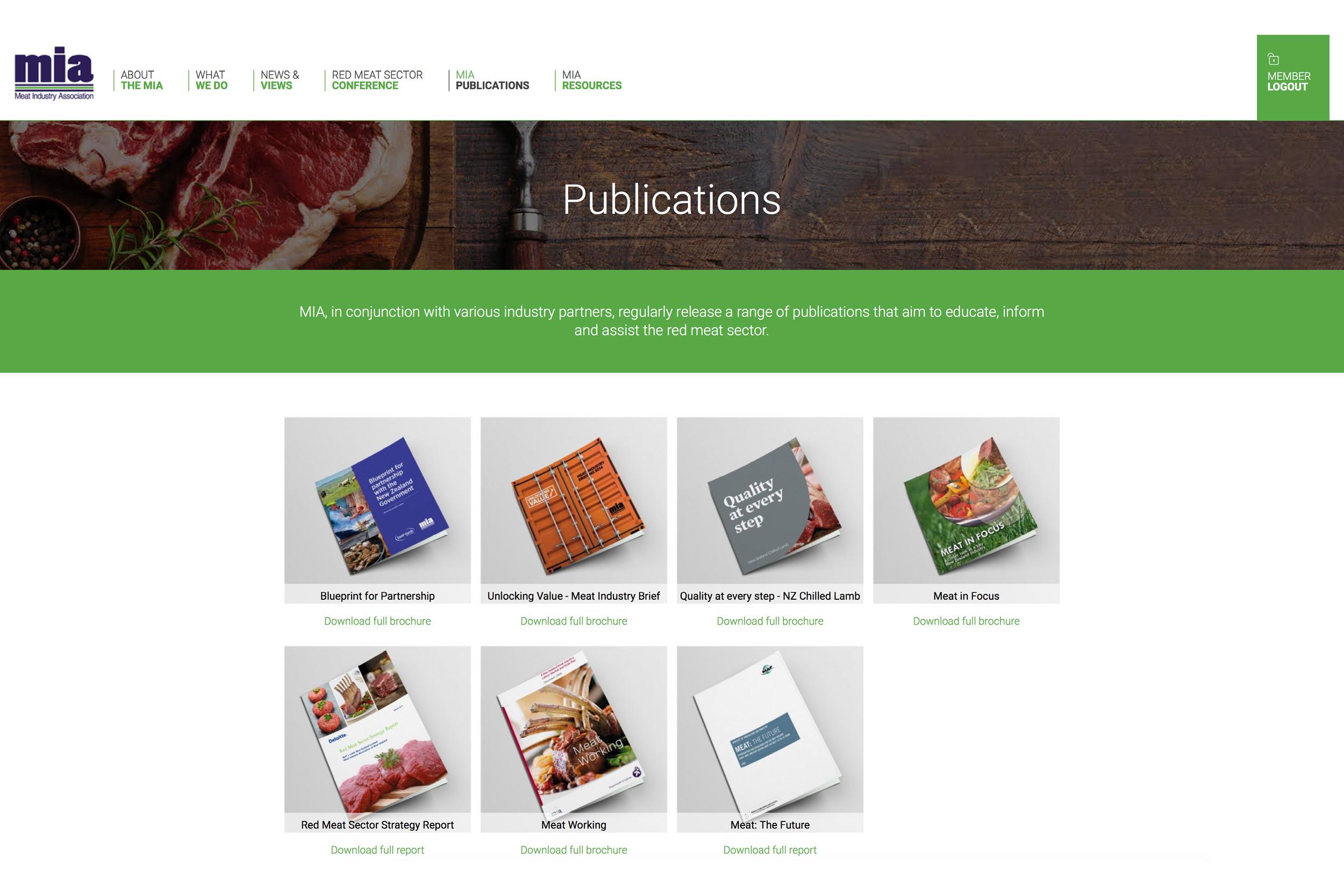 Meat Industry Association Publications