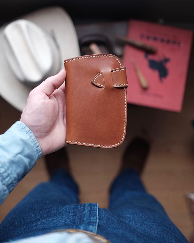 Another Kaizen mid wallet in whiskey Buttero on its way out the door