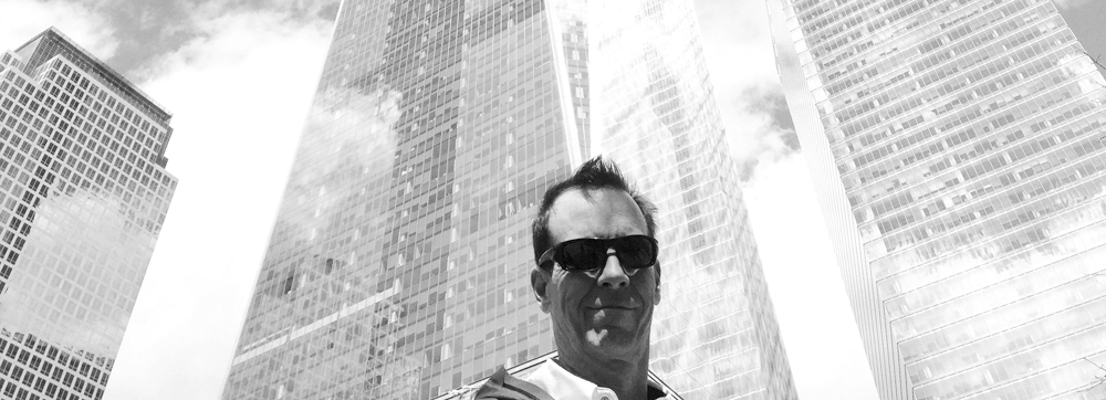 Dr. Rob Adams at the Freedom Tower, New York City