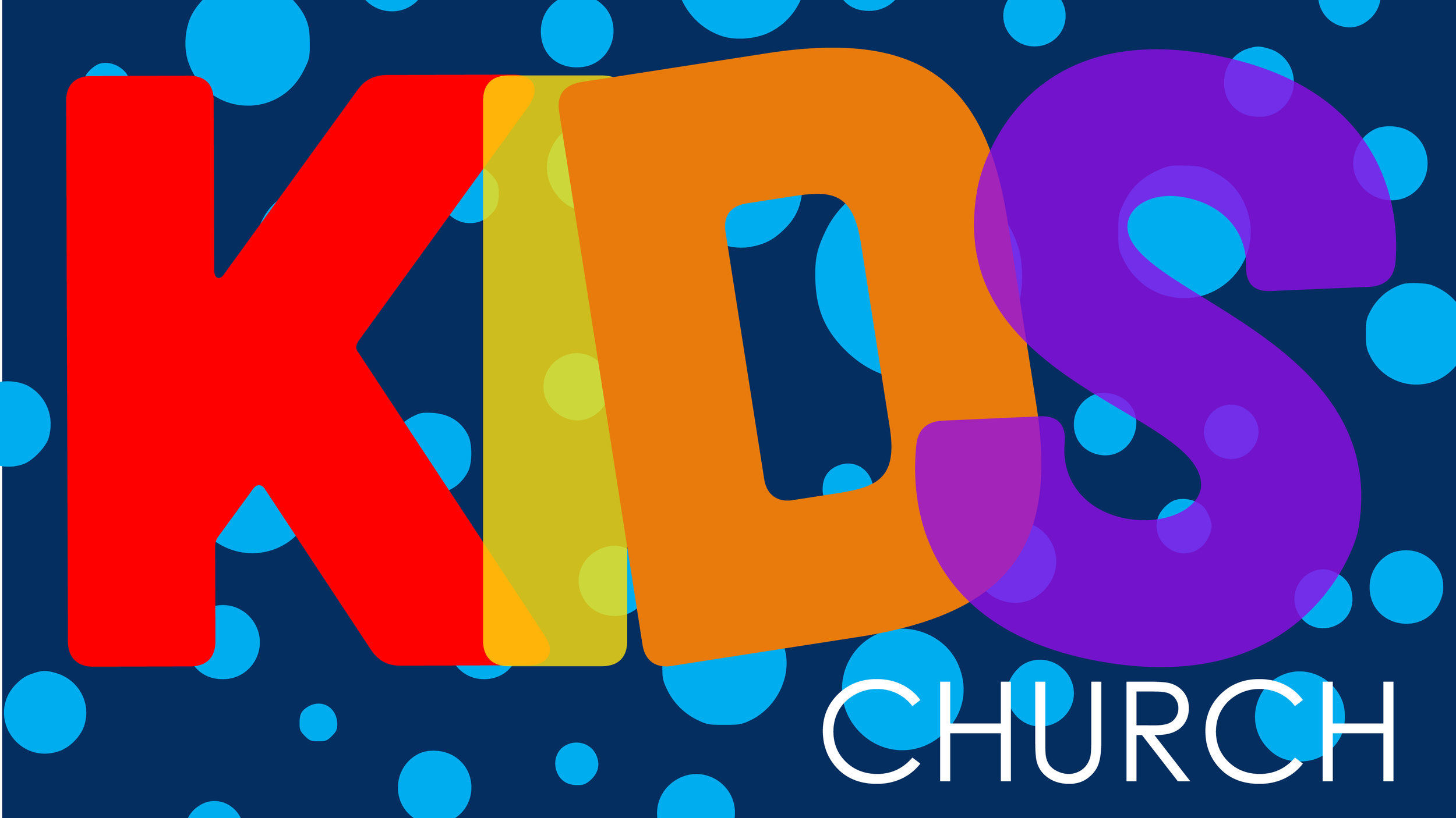 KIDS Church - We are dedicated to helping children know and experience the love of Jesus. KIDS Church is available during all services.