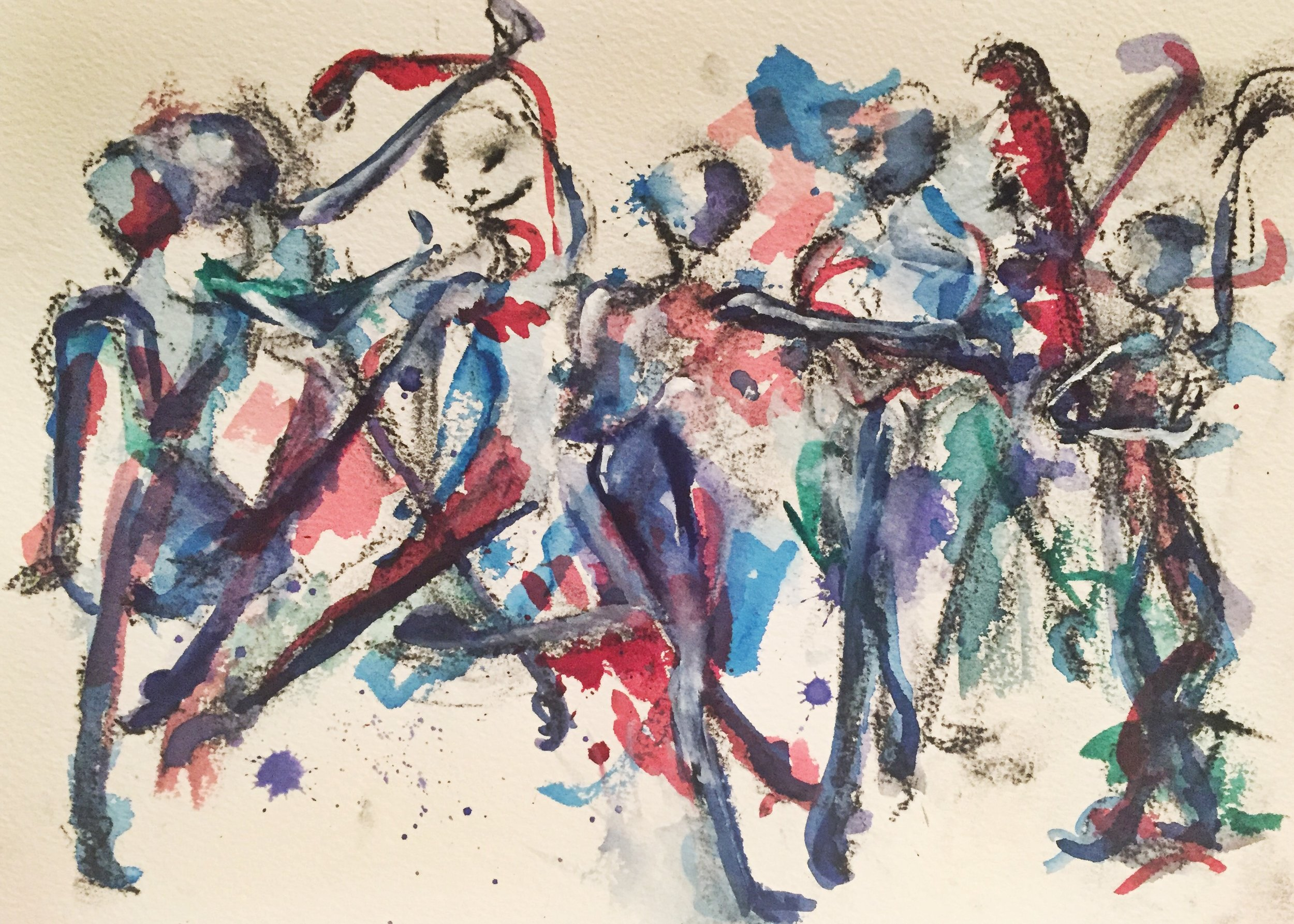 Dancers Abstract 1