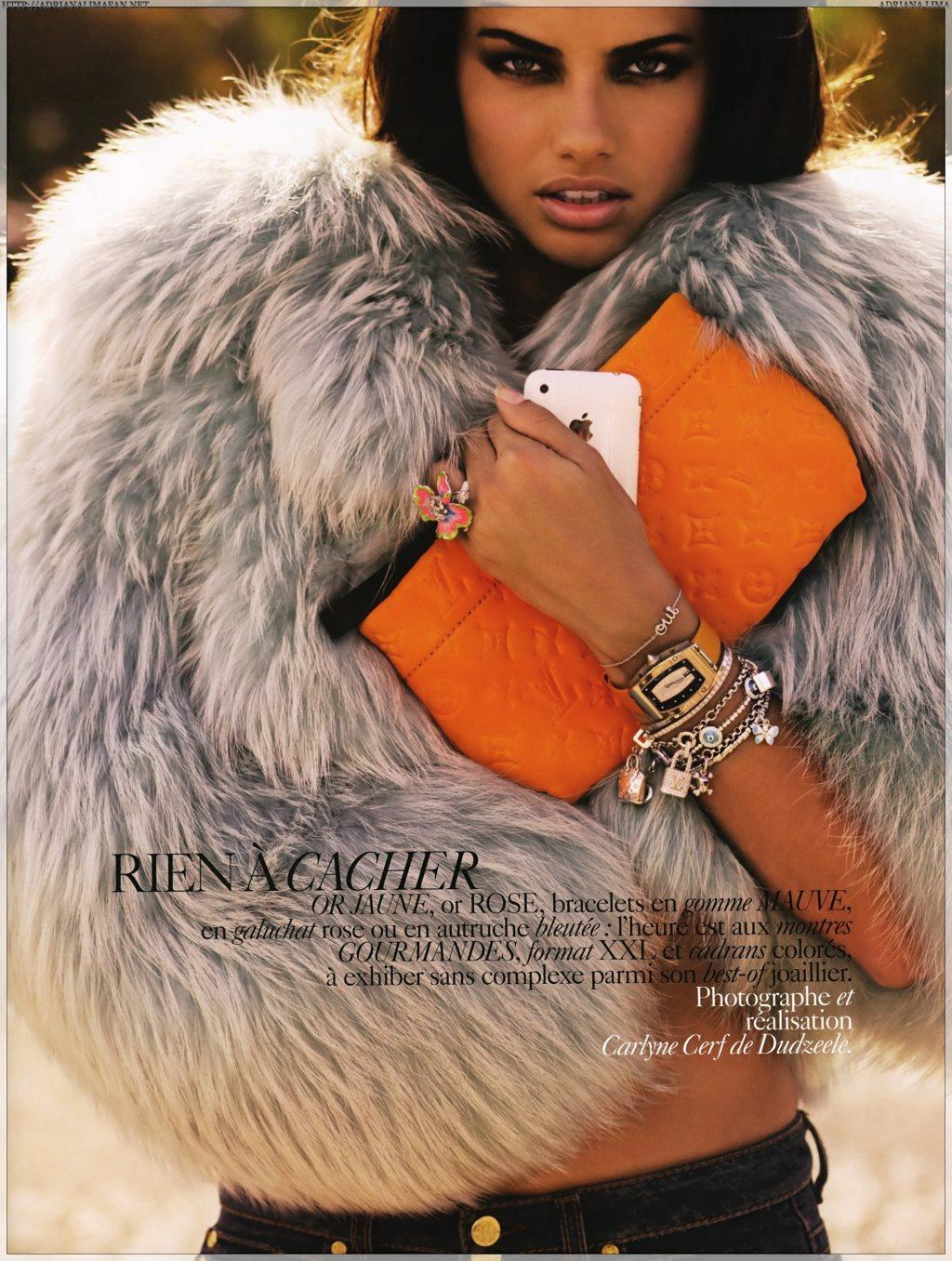 Adriana Lima, Vogue Paris, November 2008