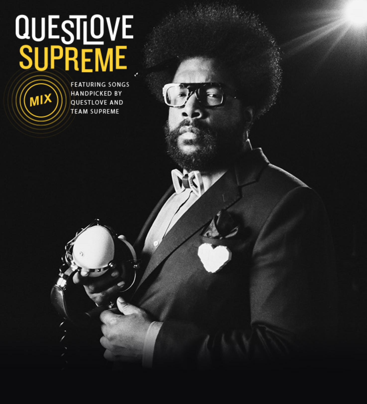 QUESTLOVE SUPREME  Provided display copy, episode descriptions, and interview questions for Questlove Supreme Show.