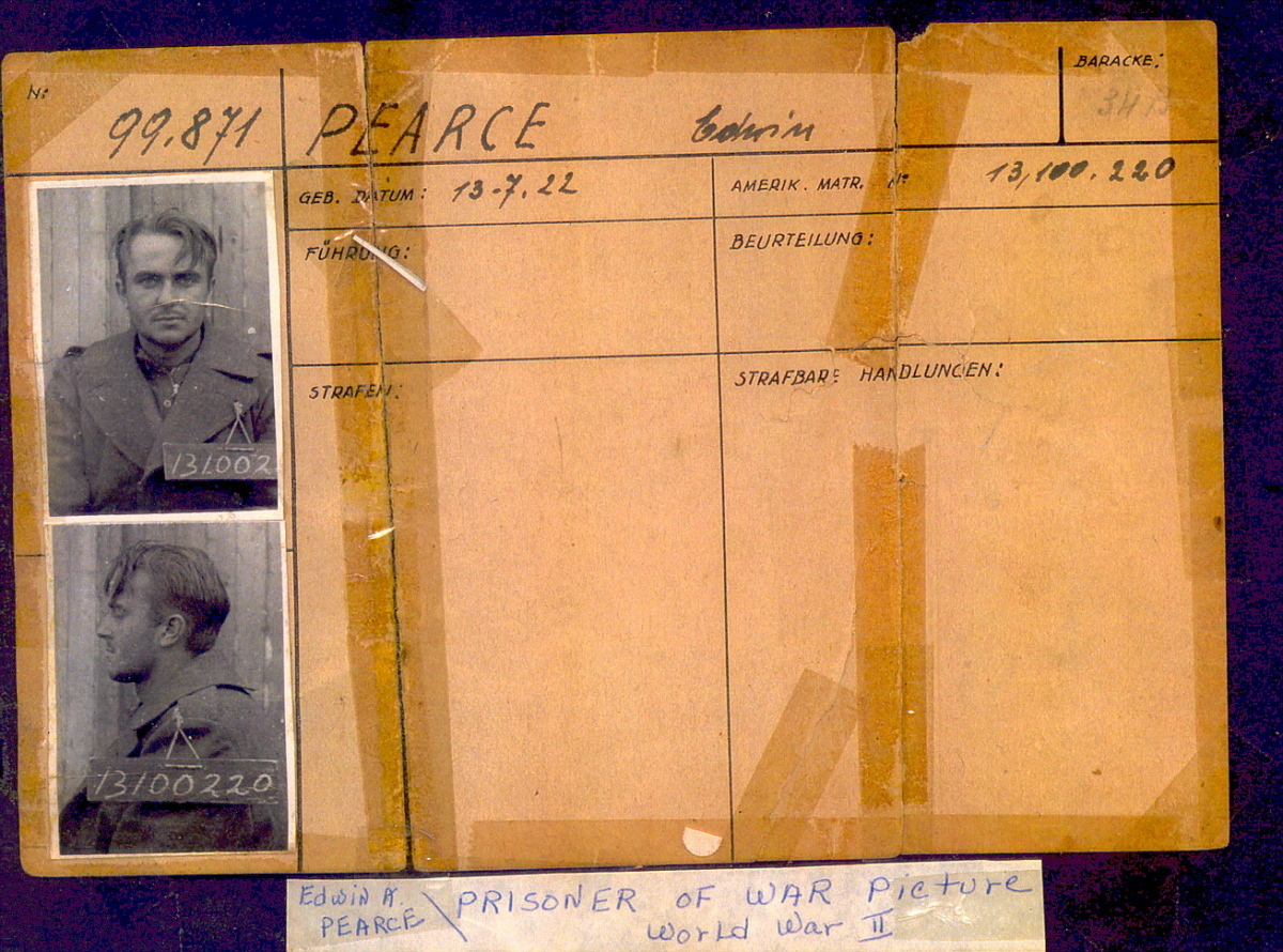 Edwin Pearce's Stalag 17 prisoner ID, courtesy of Pearce family