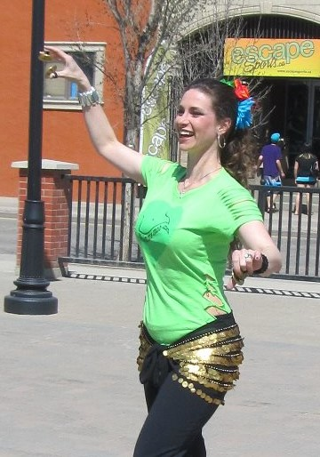 Shimmy Mob , worldwide event that fund-raises for women's shelters and children's needs annually in May