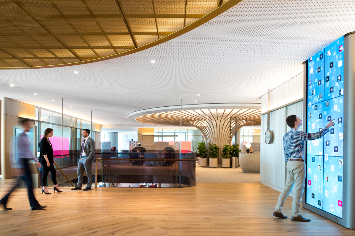 PwC installs a giant digital waterfall in its Barangaroo offices - Article by Commercial Real Estate
