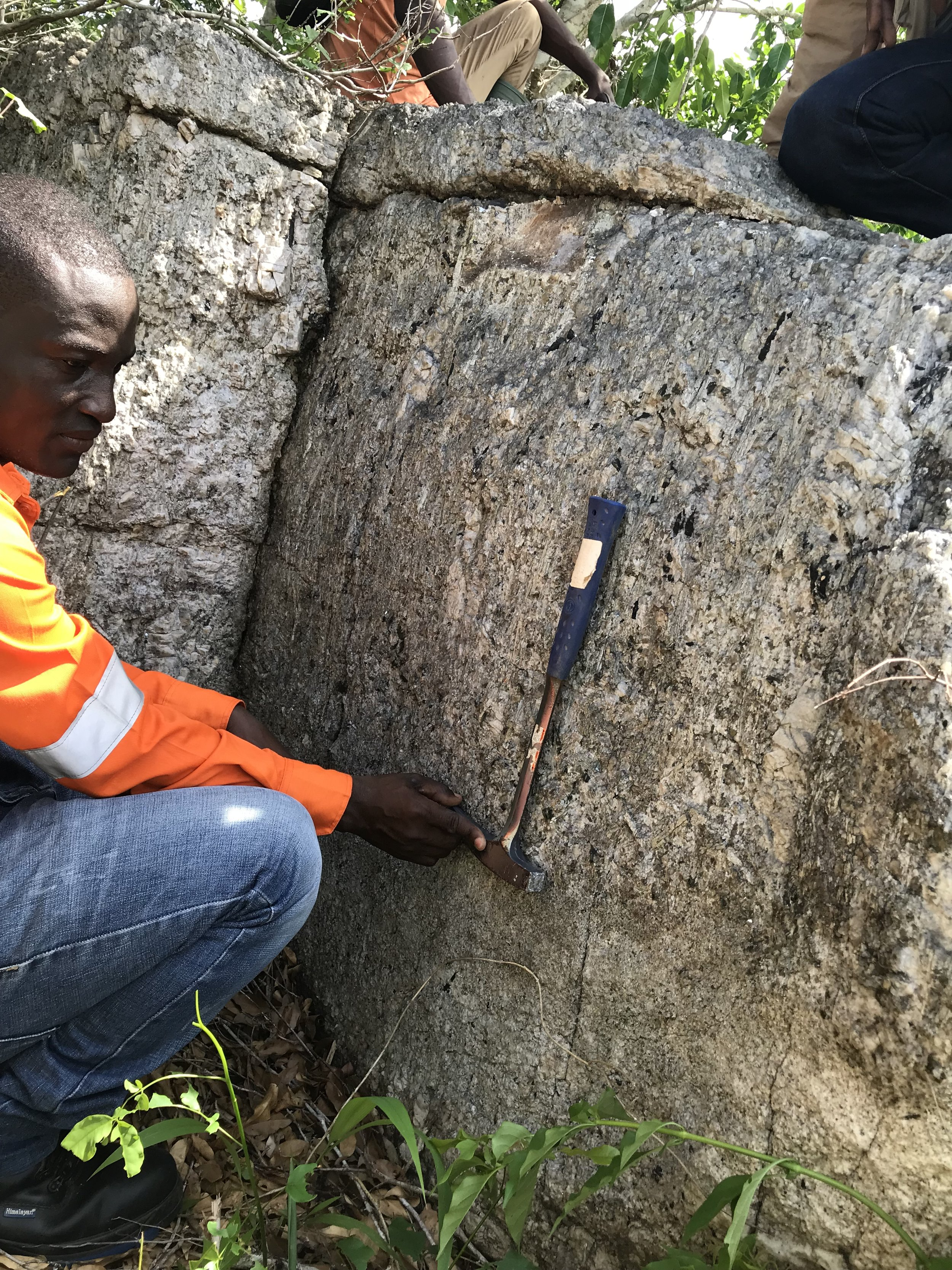 Ghana - Egyasimanku Hill. An Iron Ridge Resources Lithium project.