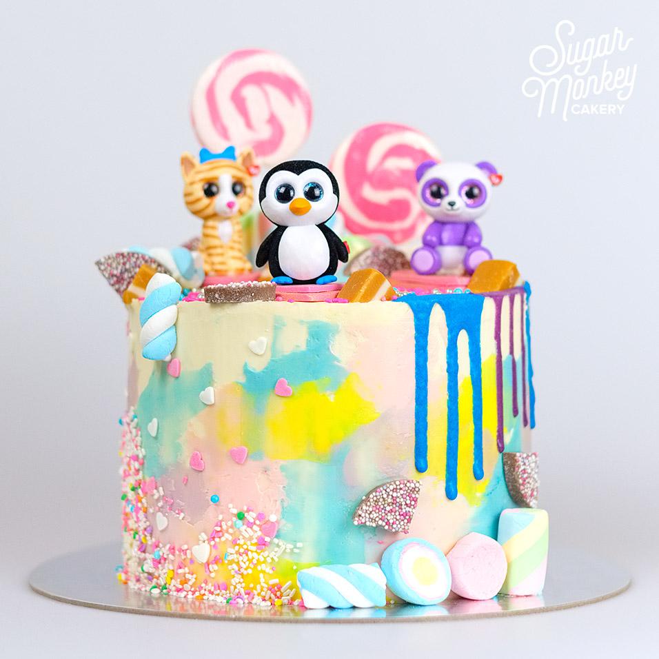 Beanie Boo birthday cake