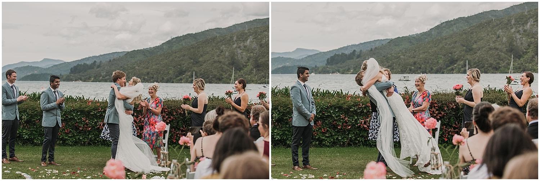 Hannah + Scott Married - The Kiss | Carmen Peter Photography