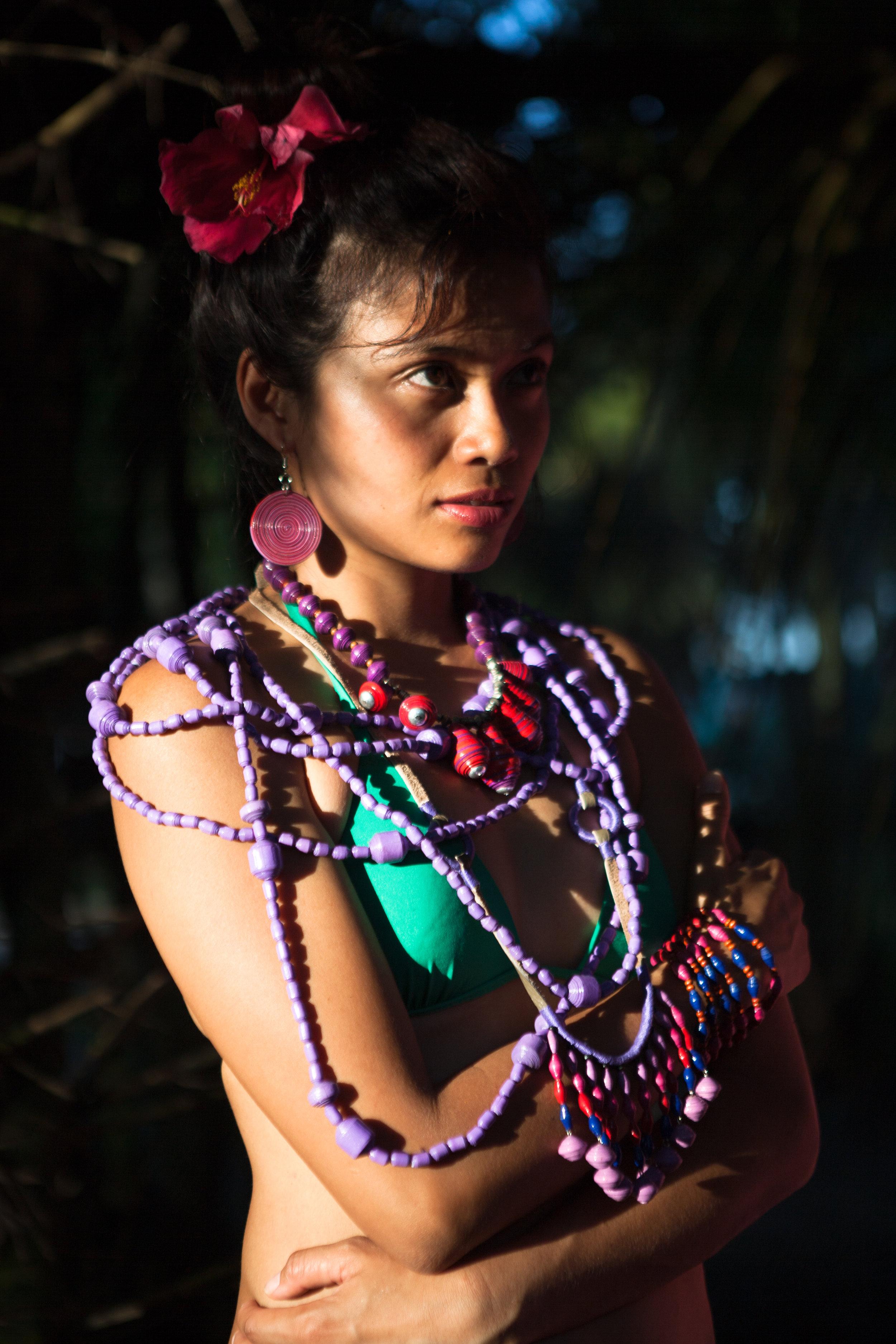 Frida Kahlo handmade upcycled colourful jewelry, Philippines