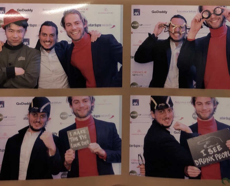 The team at the Annual  Startups.co.uk  award ceremony