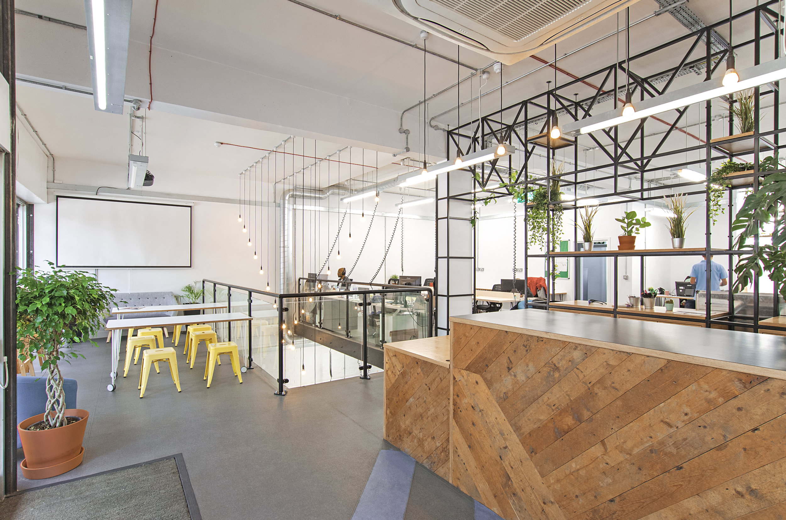 Poplar - Our new office is modern, stylish and strikingly bold. Designed with for the graceful yet practical aesthetic to have you energized yet feeling cool, calm and collected for any tasks