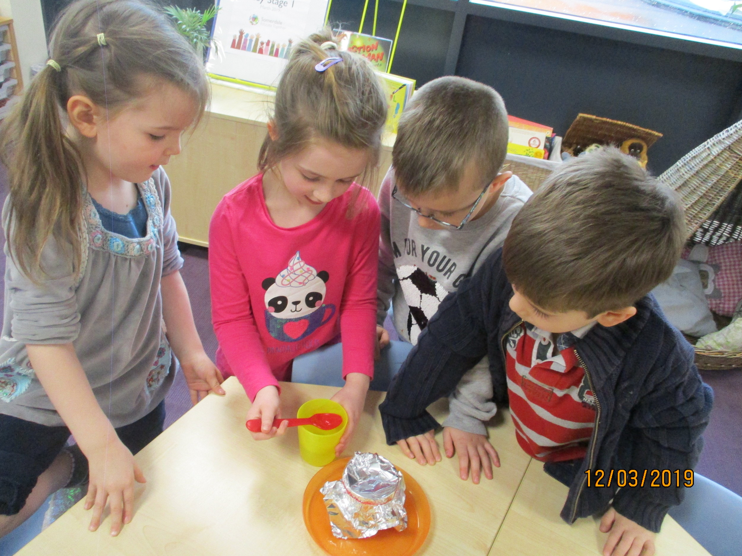 We are being scientists and using experiments to answer scientific questions like 'what material is most suitable for a new diving suit for Traction Man and why?'