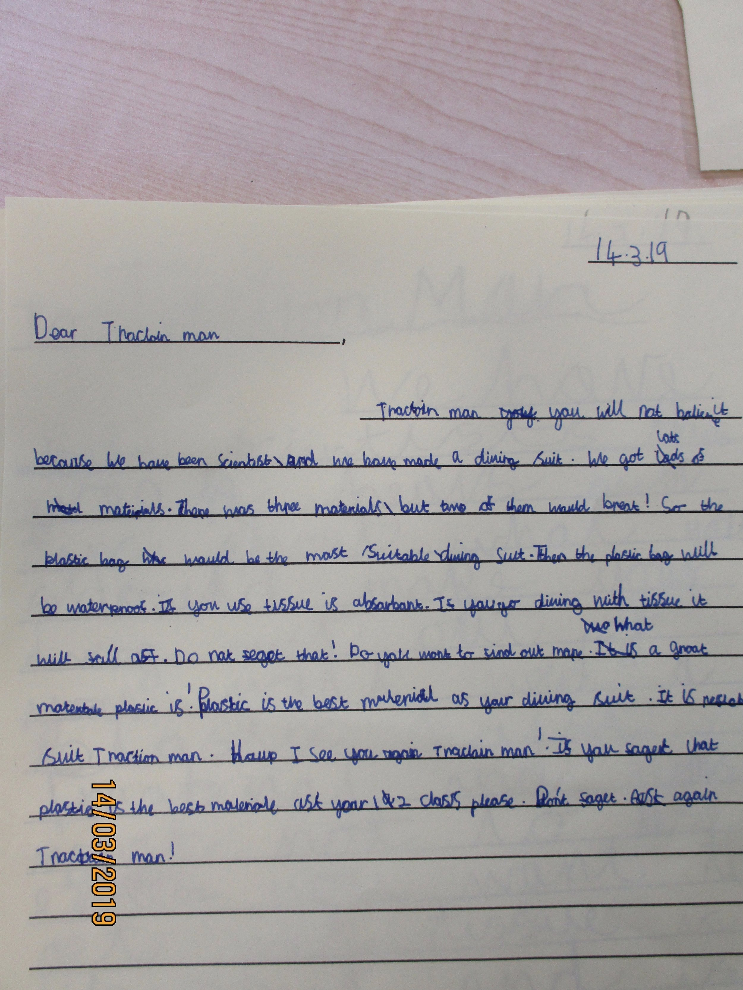 We love to write in a cross-curricular manner being inspired by both science and stories.