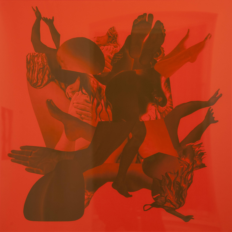 "Semra Sevin, ""Selfbodyportrait"" (detail), 80x80cm, collage, 2019"