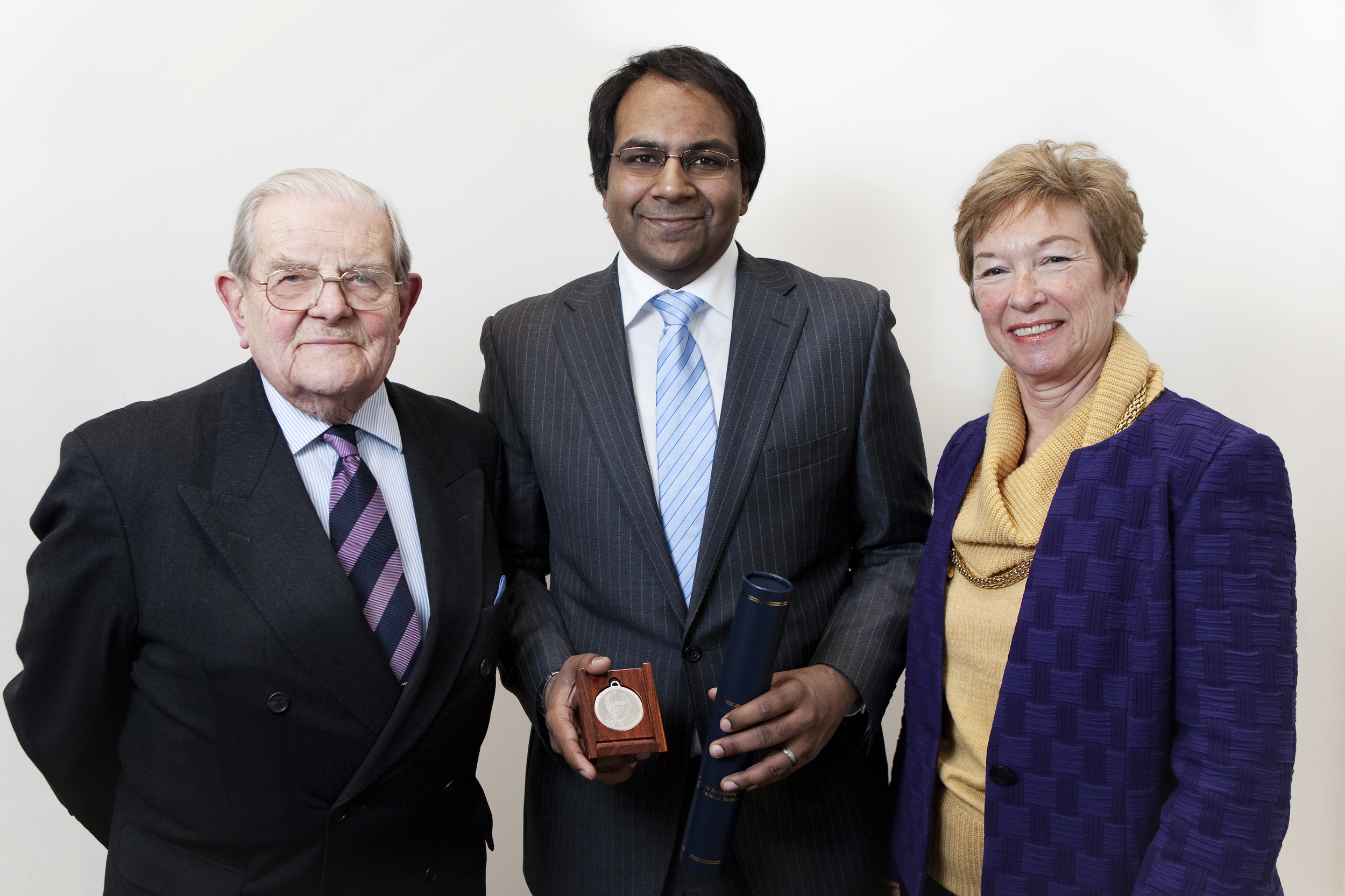 The 2013 Medal Winner with Maureen Foulkes-Hajdu and  Lord Walton of Detchant