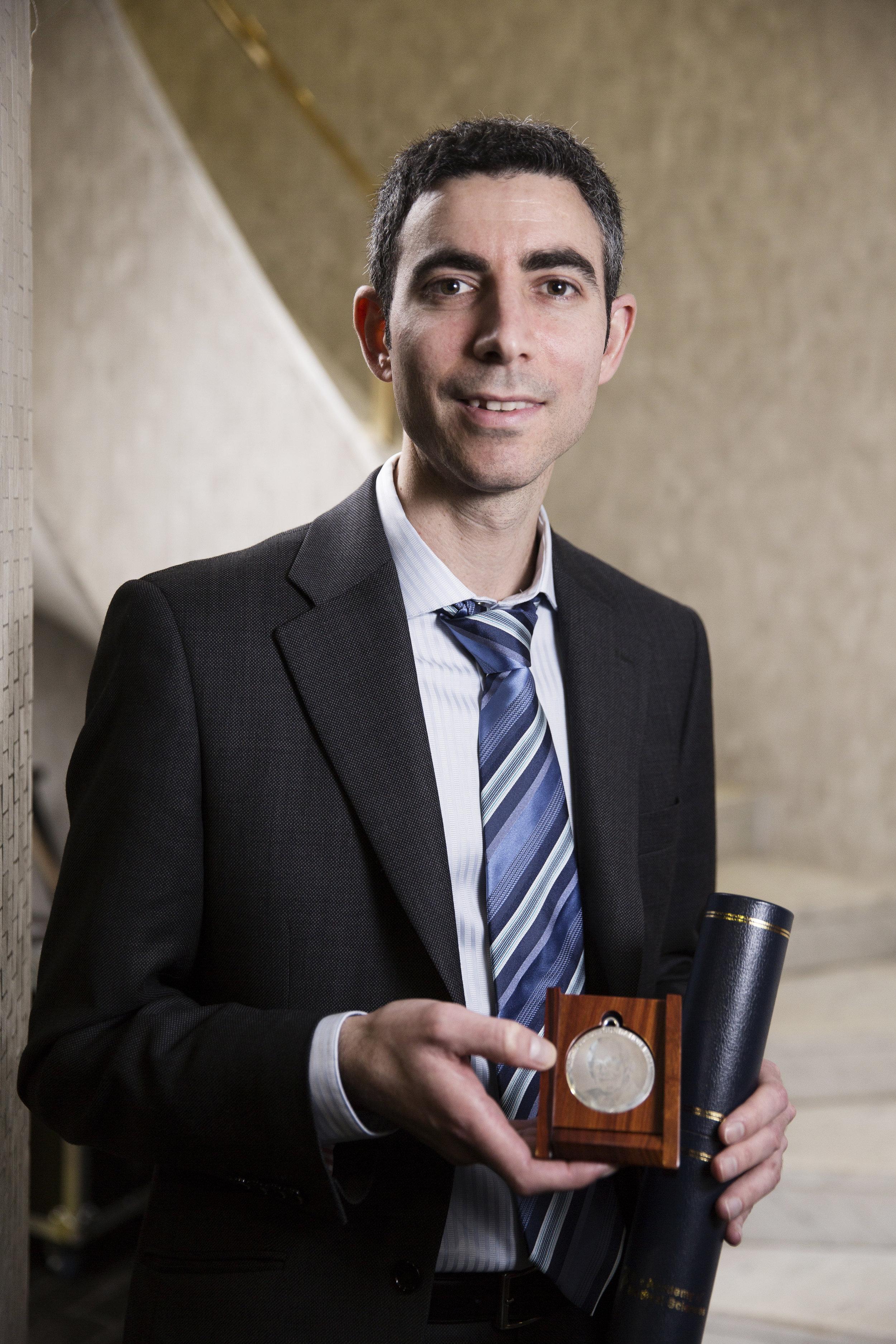 The 2015 Medal Winner, Dr Nitzan Rosenfeld