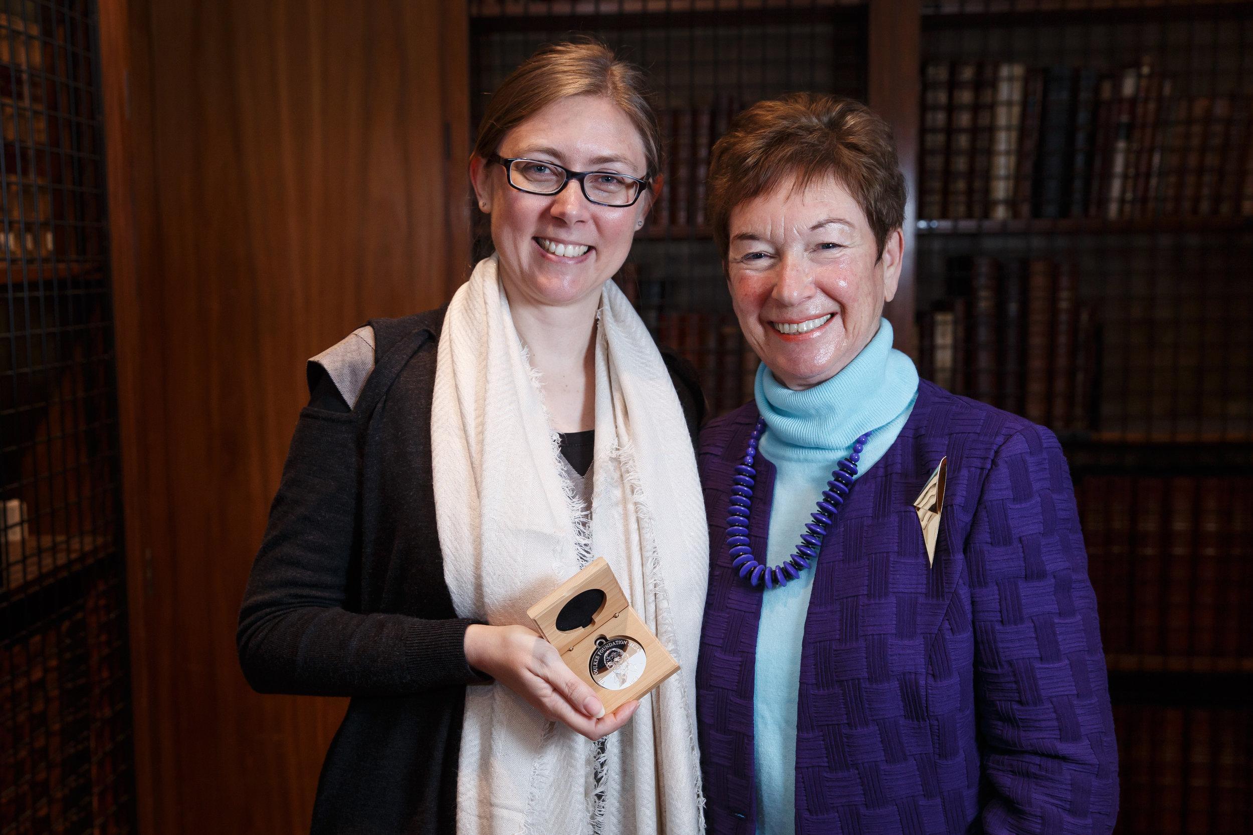 The 2017 Medal Winner with Maureen Foulkes-Hajdu