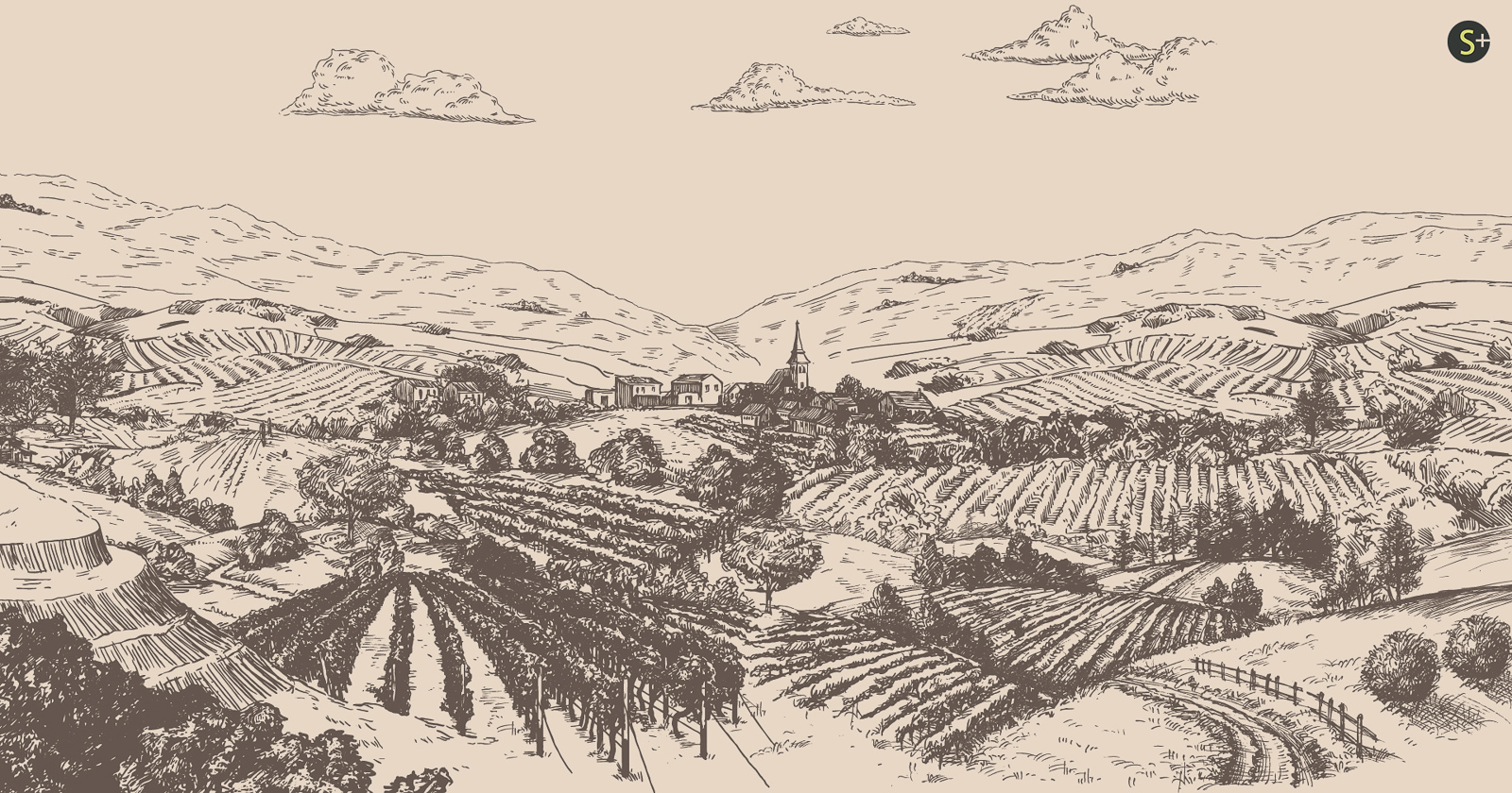 Weinort Hagenbrunn - ein Bild als neues Markenzeichen des Heurigen.