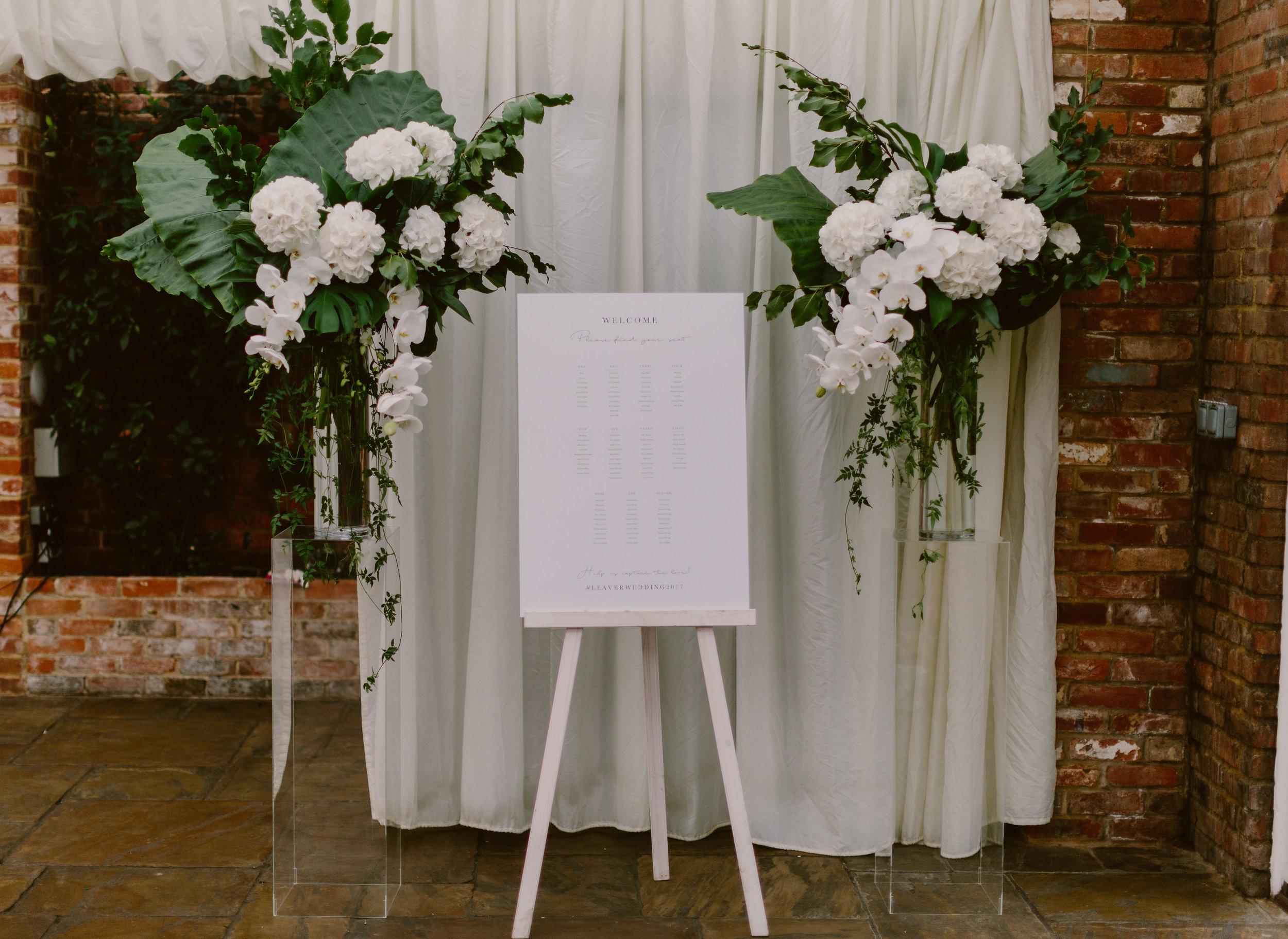 flowers wedding white tropical elegant