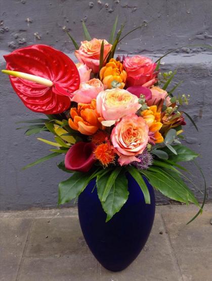 wild colourful vase flowers florist
