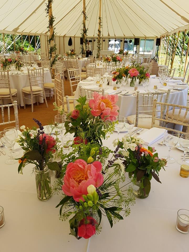 peonies marquee wedding summer june flowers