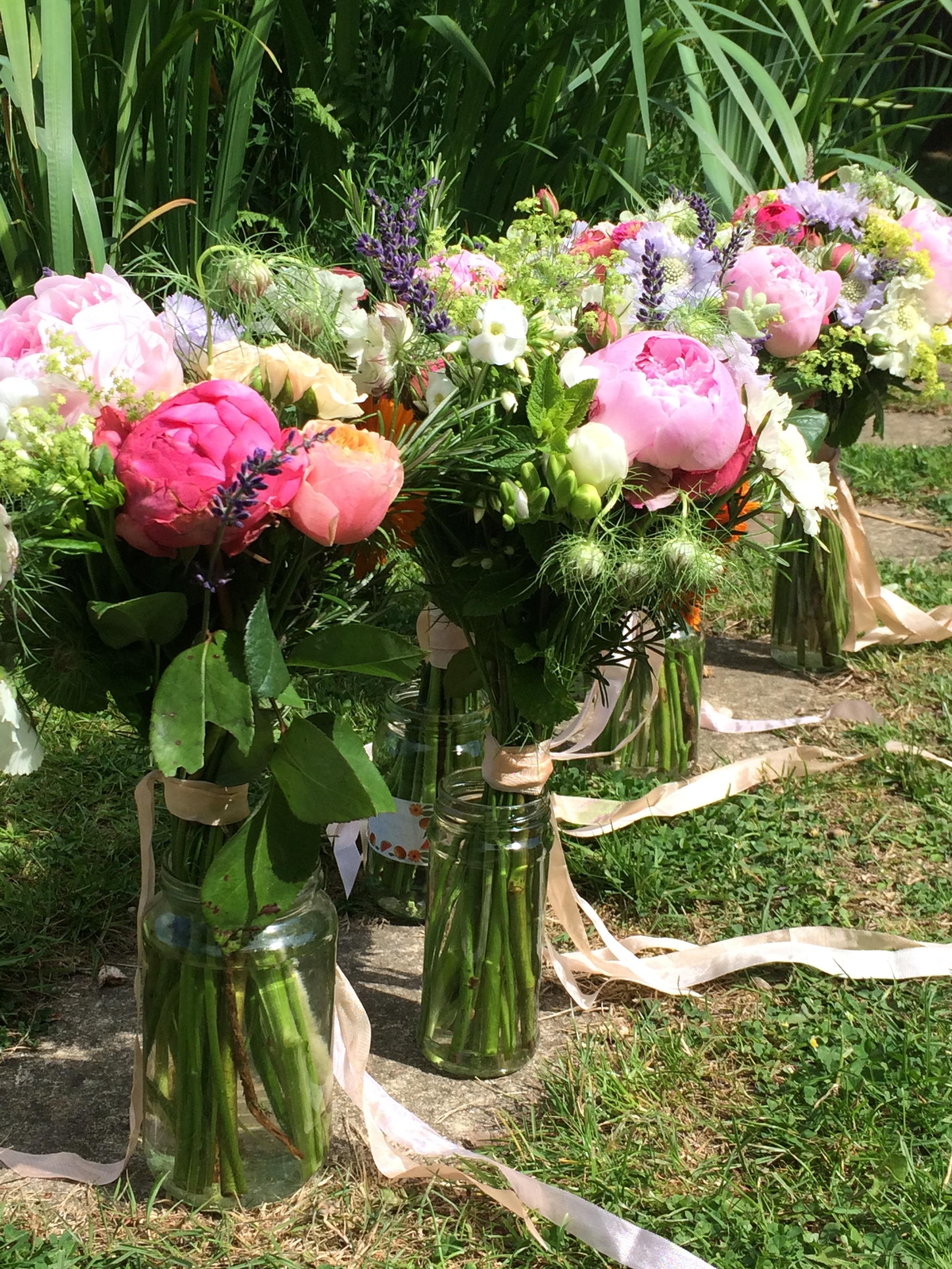 peonies roses wild garden english flowers